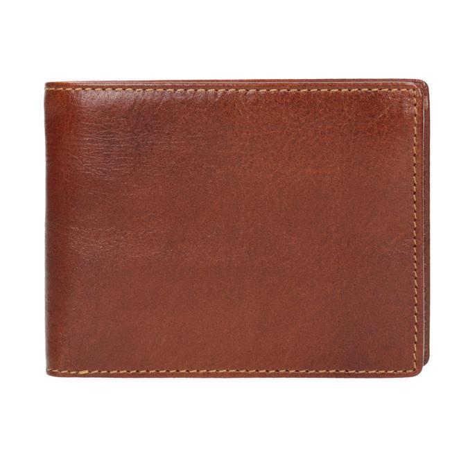 Brązowy skórzany portfel męski bata, brązowy, 944-3191 - 26