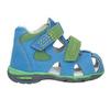 Błękitne skórzane sandały dziecięce bubblegummer, niebieski, 166-9602 - 26