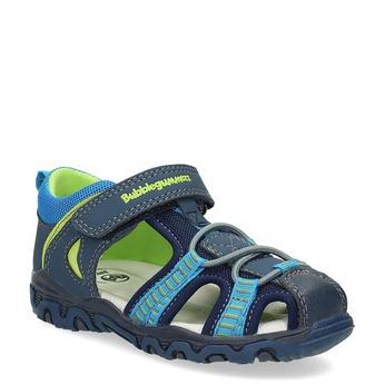 Sandały dziecięce na rzepy bubblegummer, niebieski, 161-9609 - 13