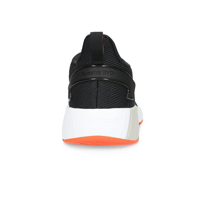 Czarne trampki męskie zpomarańczowymi detalami adidas, czarny, 809-6579 - 15