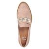 Mokasyny zperełkami, na platformie bata, różowy, 511-5610 - 17