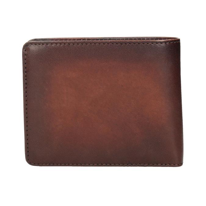 Skórzany portfel męski zefektem ombré bata, brązowy, 944-3193 - 16