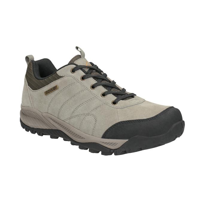 Skórzane obuwie wstylu outdoor power, brązowy, 803-3848 - 13