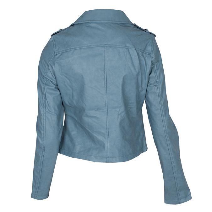 Błękitna kurtka damska wmotocyklowym stylu, zzamkami błyskawicznymi bata, niebieski, 971-9198 - 26