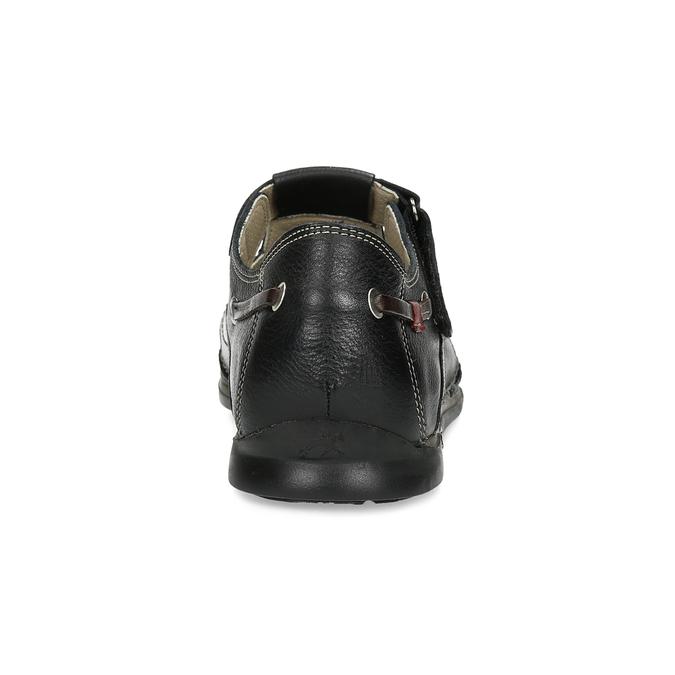 Skórzane sandały zprzeszyciami fluchos, czarny, 864-6605 - 15