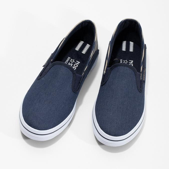 Slip-on dziecięce wdżinsowym stylu north-star, niebieski, 419-9615 - 16