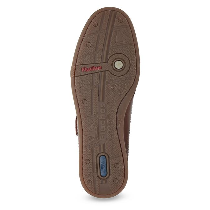 Skórzane sandały na rzepy fluchos, brązowy, 864-4605 - 18