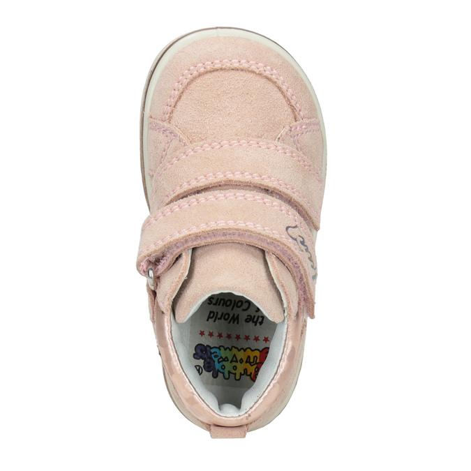 Skórzane botki dziecięce dla dziewcząt bubblegummer, różowy, 123-5606 - 15