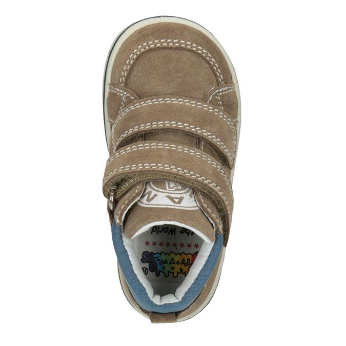 Skórzane obuwie dziecięce za kostkę bubblegummer, brązowy, 113-4607 - 15