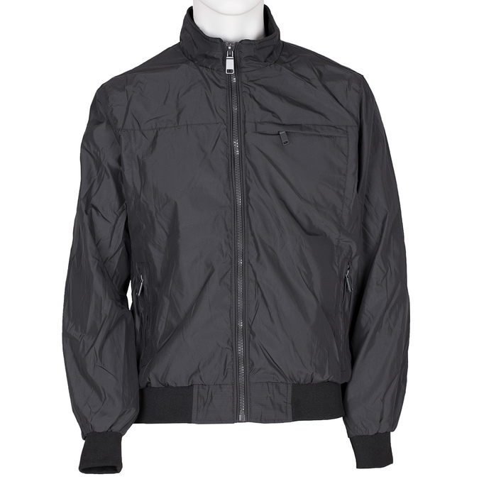 Czarna kurtka męska zmateriału tekstylnego bata, czarny, niebieski, 979-9119 - 13