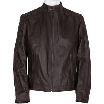 Brązowa skórzana kurtka męska bata, brązowy, 974-4154 - 13
