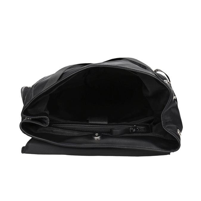 Czarny plecak męski zmateriału tekstylnego atletico, czarny, 969-6677 - 15