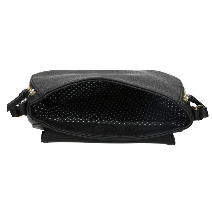 Czarna torebka typu crossbody ze złotymi zamkami błyskawicznymi gabor-bags, czarny, 961-6001 - 15