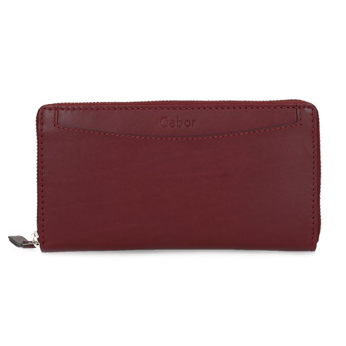 Czerwony skórzany portfel damski gabor-bags, czerwony, 946-5003 - 26