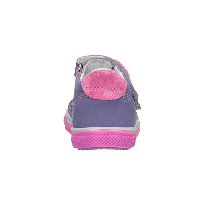 Skórzane buty dziecięce na rzepy bubblegummer, fioletowy, 126-9601 - 16