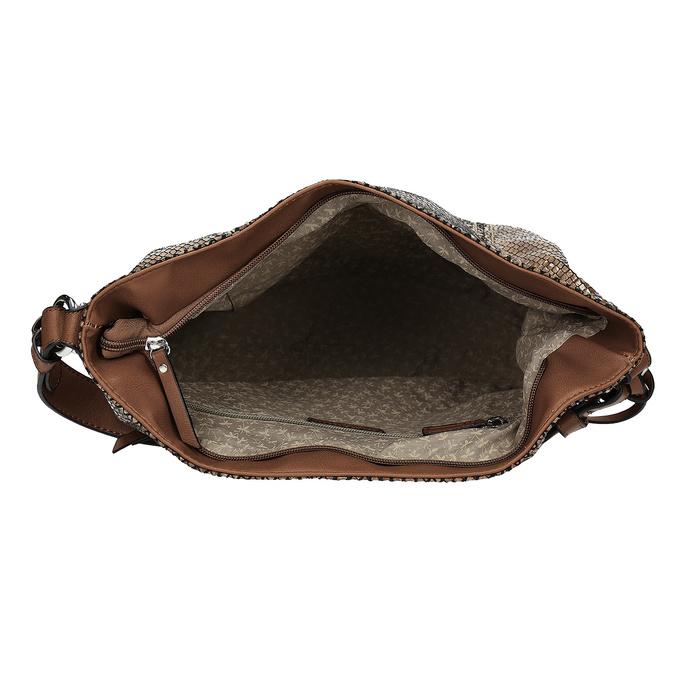 Torebka wdeseń skóry wężowej gabor-bags, brązowy, 961-3008 - 15
