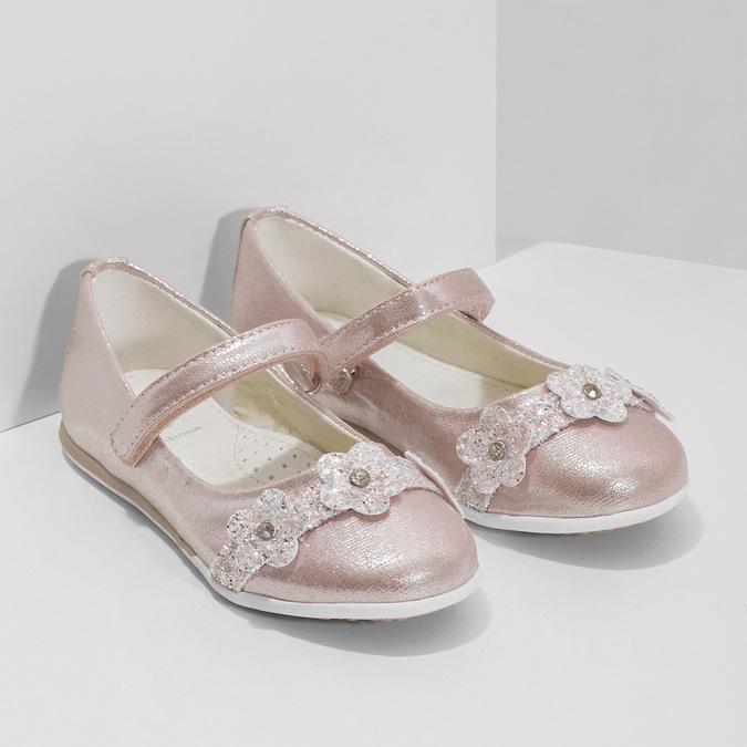 Różowe baleriny dziewczęce zrefleksami mini-b, różowy, 229-5106 - 26