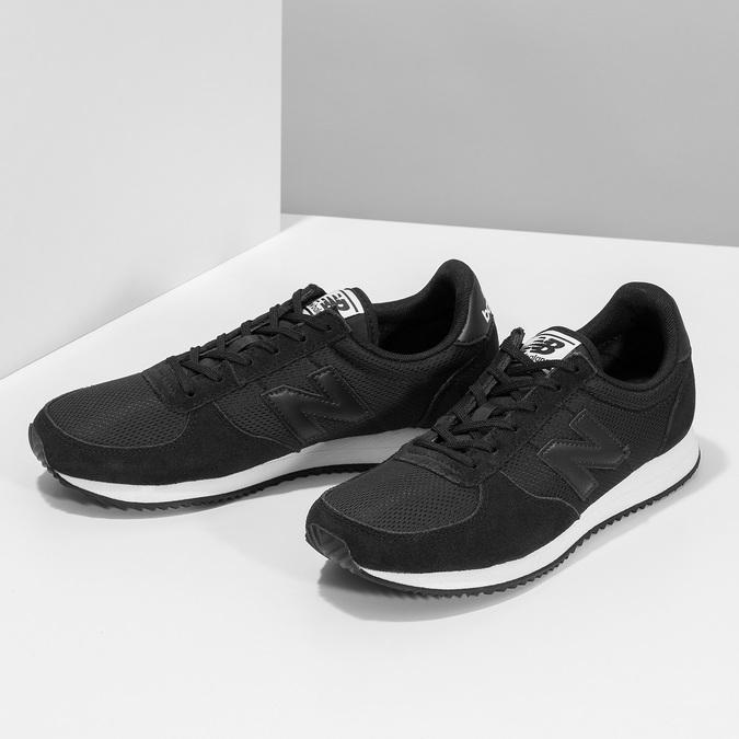 Czarne trampki damskie wsportowym stylu new-balance, czarny, 509-6871 - 16