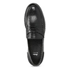 Czarne skórzane mokasyny męskie bata, czarny, 814-6128 - 17