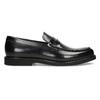 Czarne skórzane mokasyny męskie bata, czarny, 814-6177 - 19