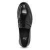 Czarne skórzane mokasyny męskie bata, czarny, 814-6177 - 17