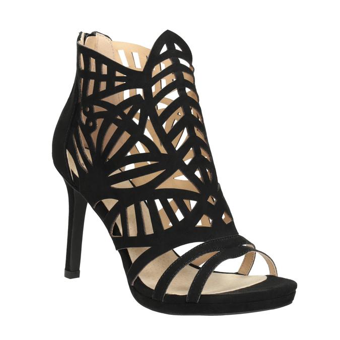 Sandały na szpilkach bata, czarny, 729-6615 - 13
