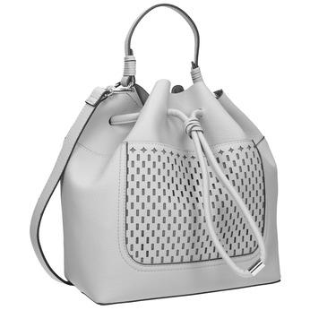 Szara torebka bucket bag bata, szary, 961-2298 - 13