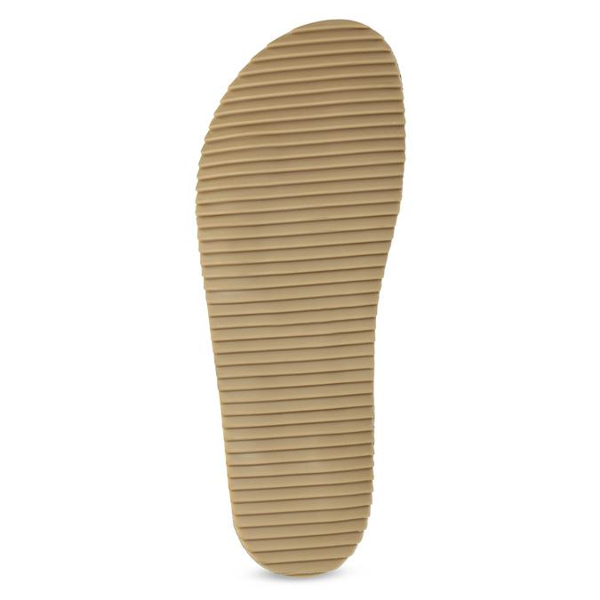 Skórzane klapki wkolorze khaki bata, khaki, 866-7647 - 18