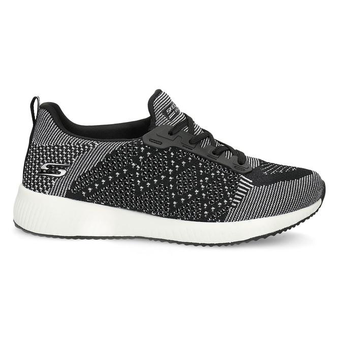 Czarno-białe trampki damskie skechers, czarny, 509-6990 - 19