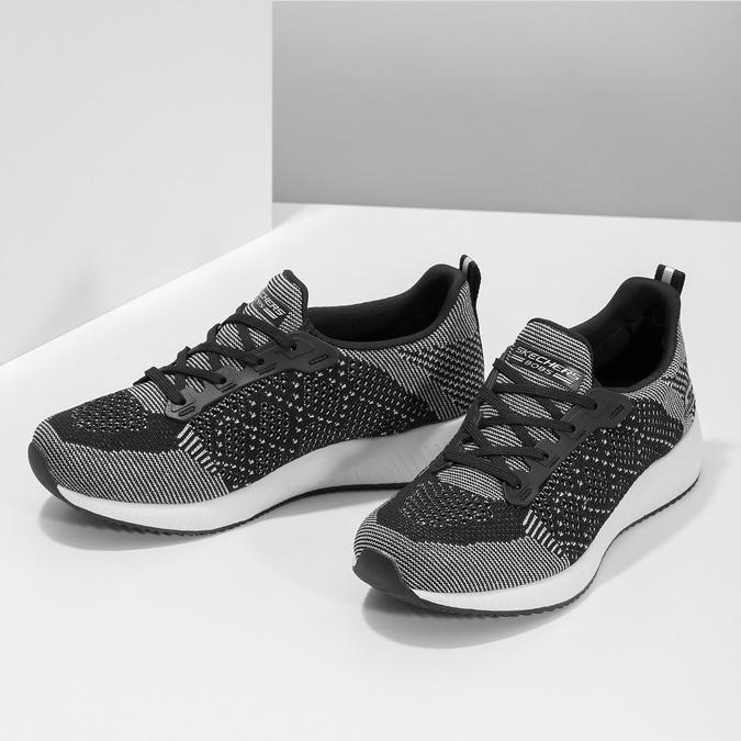 Czarno-białe trampki damskie skechers, czarny, 509-6990 - 16