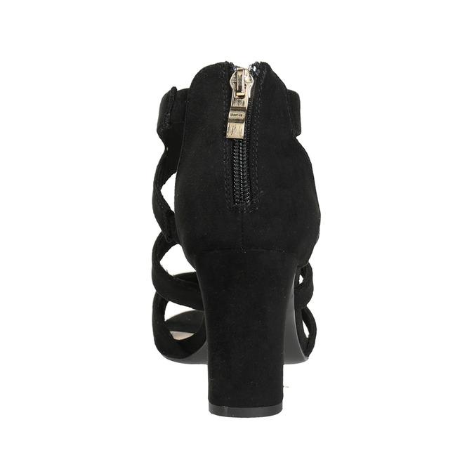 Czarne sandały na stabilnych obcasach insolia, czarny, 769-6617 - 15