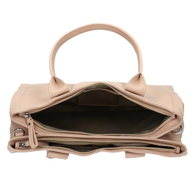 Jasnobeżowa skórzana torebka bata, beżowy, 964-8298 - 15