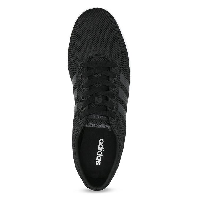 Czarne trampki męskie zfakturą siatki adidas, czarny, 809-6422 - 17