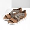 Brązowe sandały zwzorem bata, czarny, 569-6616 - 26