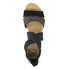 Czarno-srebrne sandały damskie bata, czarny, 569-6608 - 17