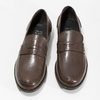 Brązowe skórzane mokasyny męskie bata, brązowy, 814-4128 - 16