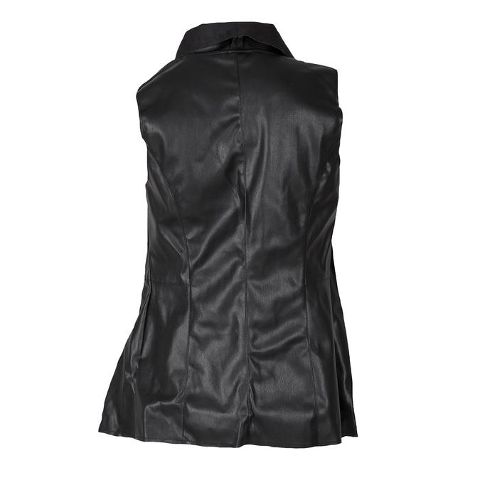 Czarna kamizelka damska ze skóry ekologicznej bata, czarny, 971-6208 - 26