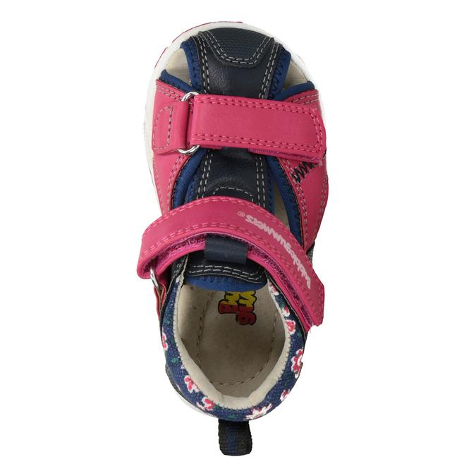 Sandały dziewczęce na rzepy bubblegummer, różowy, 161-5604 - 17