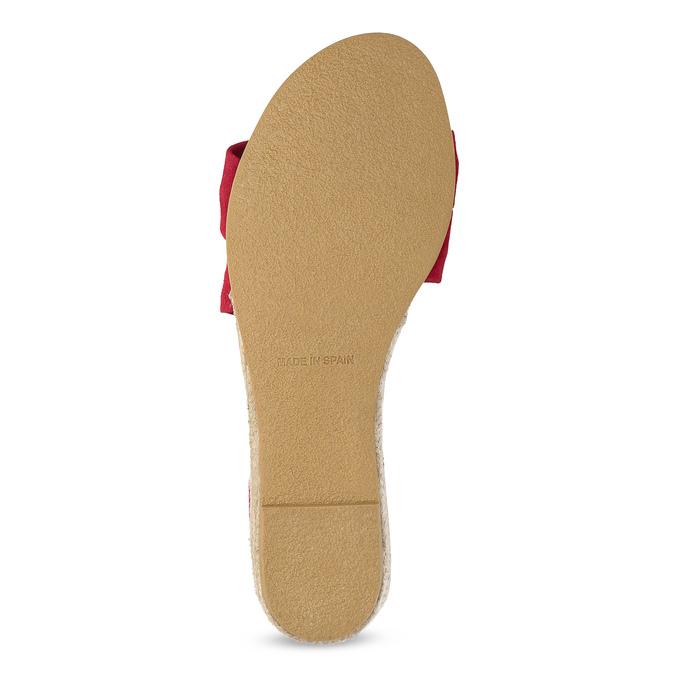 Czerwone skórzane sandały na koturnach bata, czerwony, 563-5600 - 18