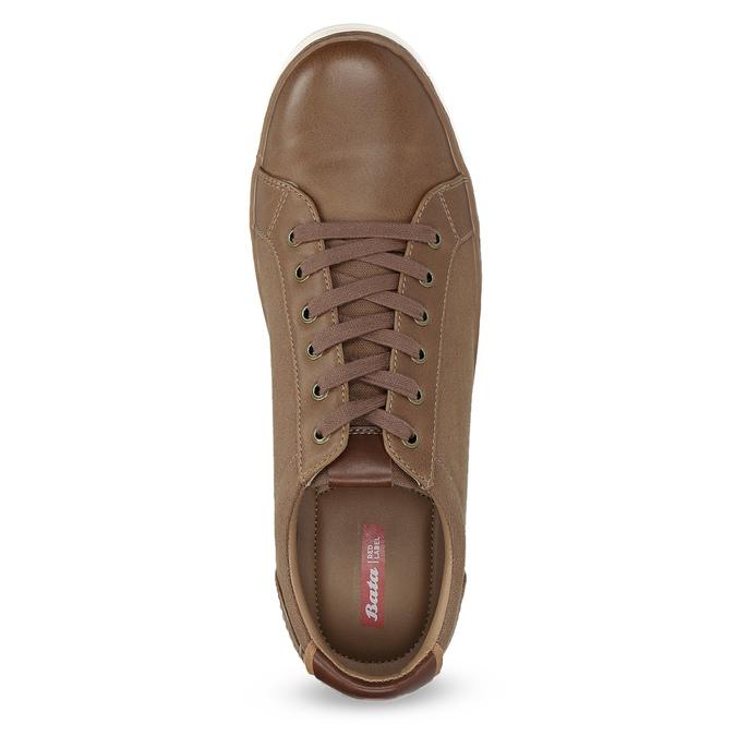 Brązowe nieformalne trampki bata-red-label, brązowy, 841-3616 - 17