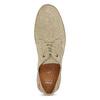 Skórzane beżowe trampki męskie zperforacją bata, beżowy, 823-8617 - 17