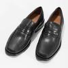 Czarne skórzane mokasyny męskie bata, czarny, 814-6625 - 16