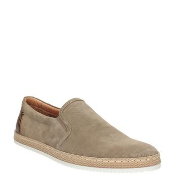 Zamszowe slip-on męskie bata, beżowy, 833-8602 - 13
