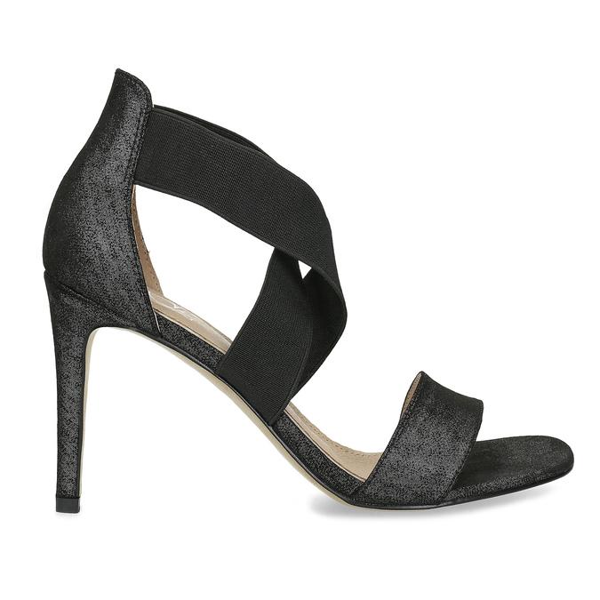 Czarne sandały na szpilkach insolia, czarny, 769-6625 - 19