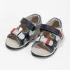 Granatowo-białe sandały dziecięce bubblegummer, niebieski, 161-9606 - 16