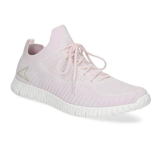 Różowe dzianinowe trampki damskie power, różowy, 509-0211 - 13