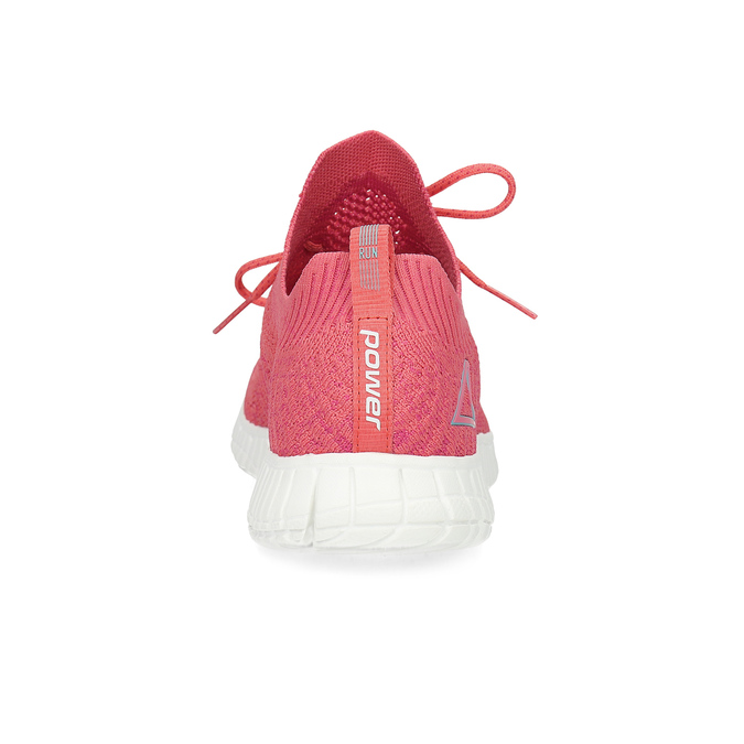 Różowe dzianinowe trampki damskie power, różowy, 509-5211 - 15