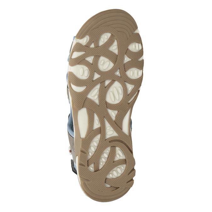 Szaro-błękitne sandały chłopięce zzapięciami na rzepy mini-b, brązowy, 261-3608 - 19