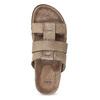 Jasnobrązowe skórzane klapki męskie bata, brązowy, 866-3639 - 17