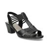Skórzane sandały na obcasach, oszerokościH bata, czarny, 664-6610 - 13